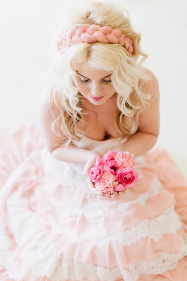 Blush Pink Gold Wedding Dress (11)