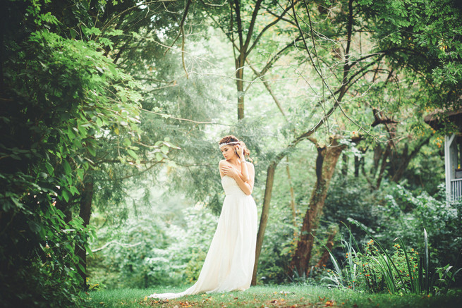 Celia grace wedding dress // Boho rope braid updo // Luxe Handcrafted Heirloom Wedding Jewelry by Edera Jewelry // La Candella Weddings Photography