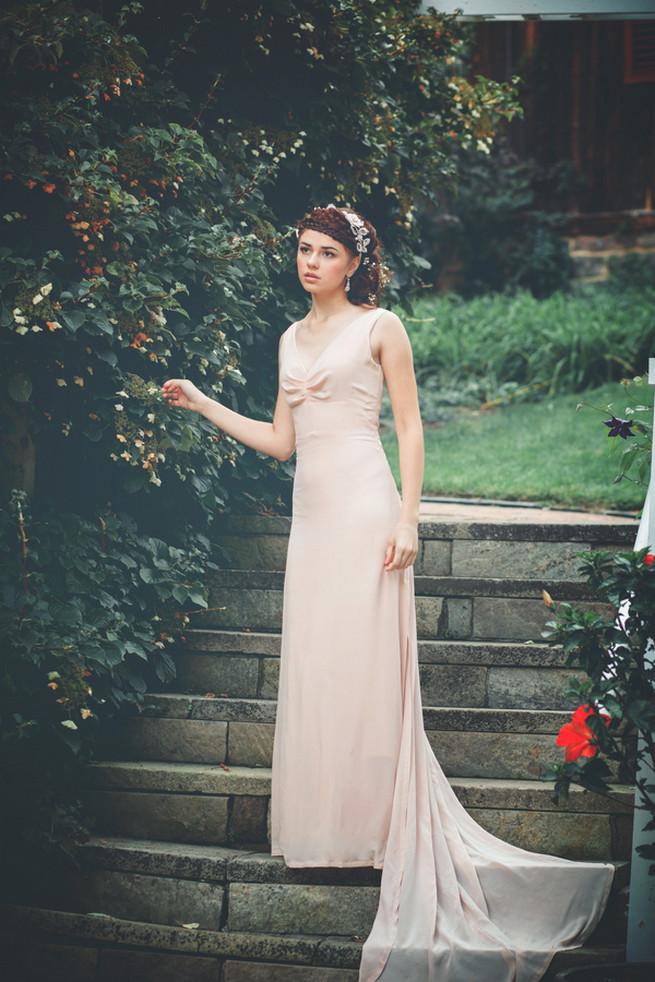 Celia Grace wedding dress. Luxe Handcrafted Heirloom Wedding Jewelry by Edera Jewelry // La Candella Weddings Photography