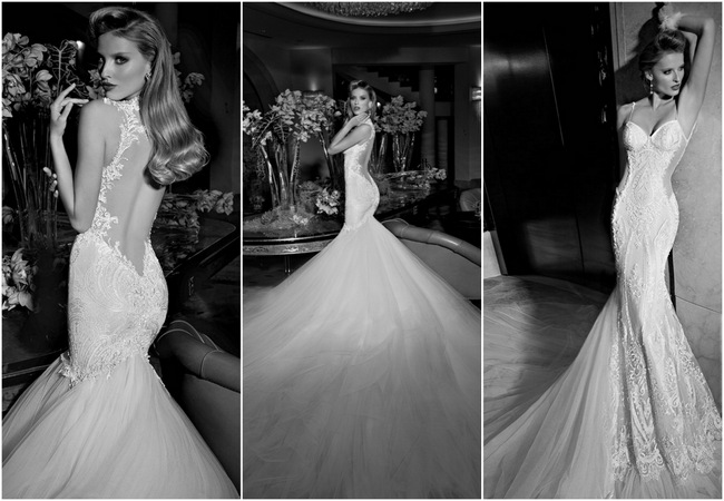 Take a look at the NEW 2015 collection of backless and uber luxe wedding dress from none other than Galia Lahav right here. WOW!