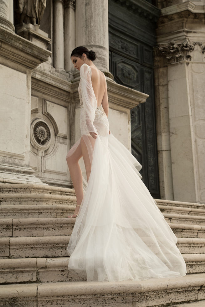 Long sleeved, short Inbal Dror Wedding Dresses 2015