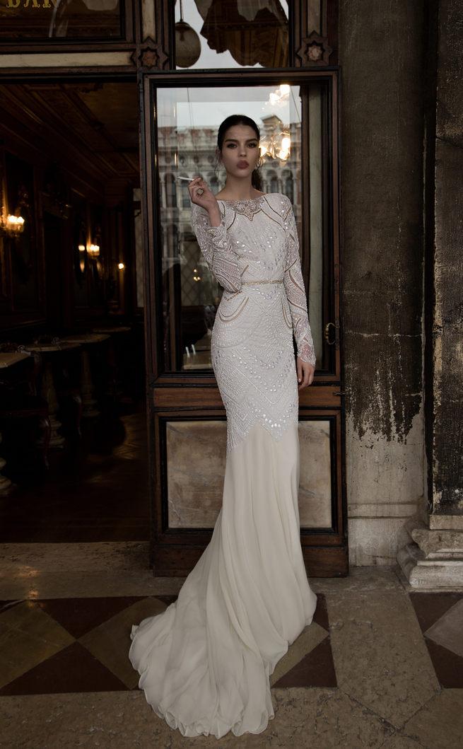 Long Sleeved Inbal Dror Wedding Dresses 2015