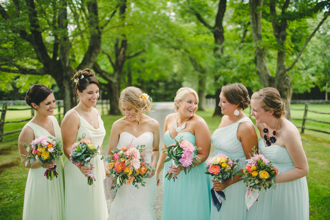 Mint Navy DIY Farm Wedding (60)