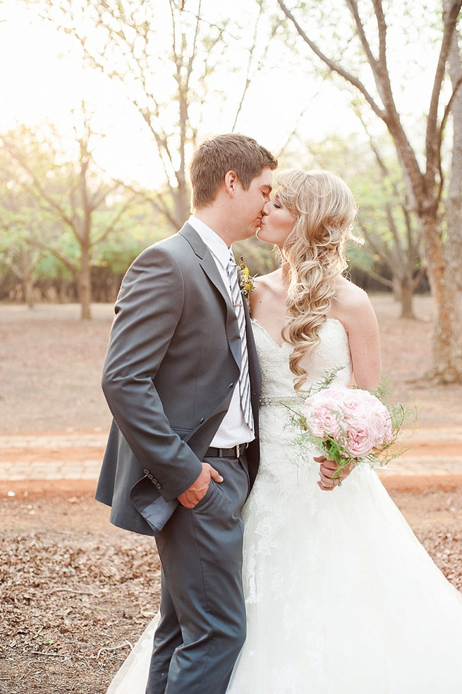 Her hair is perfection! Blush Pink and Powder Blue Spring Wedding // D'amor Photography