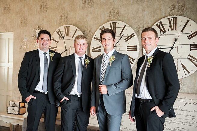 Groom and groomsmen: Blush Pink and Powder Blue Spring Wedding // D'amor Photography