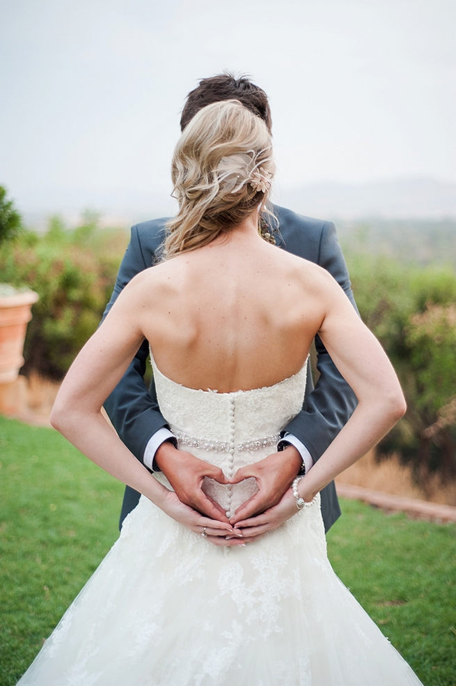 Hands and hearts - Love this Wedding photo idea! Blush Pink and Powder Blue Spring Wedding // D'amor Photography