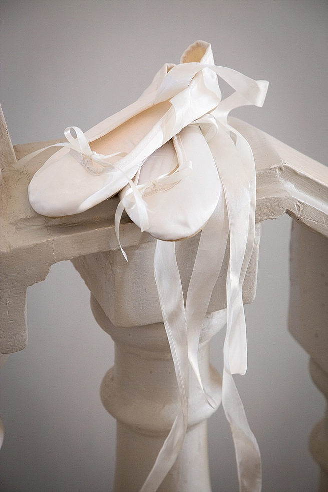 Ballet style flat wedding pumps by Anella Wedding shoes. Soft Pink and Gold Wedding by Samanatha Jackson Photo