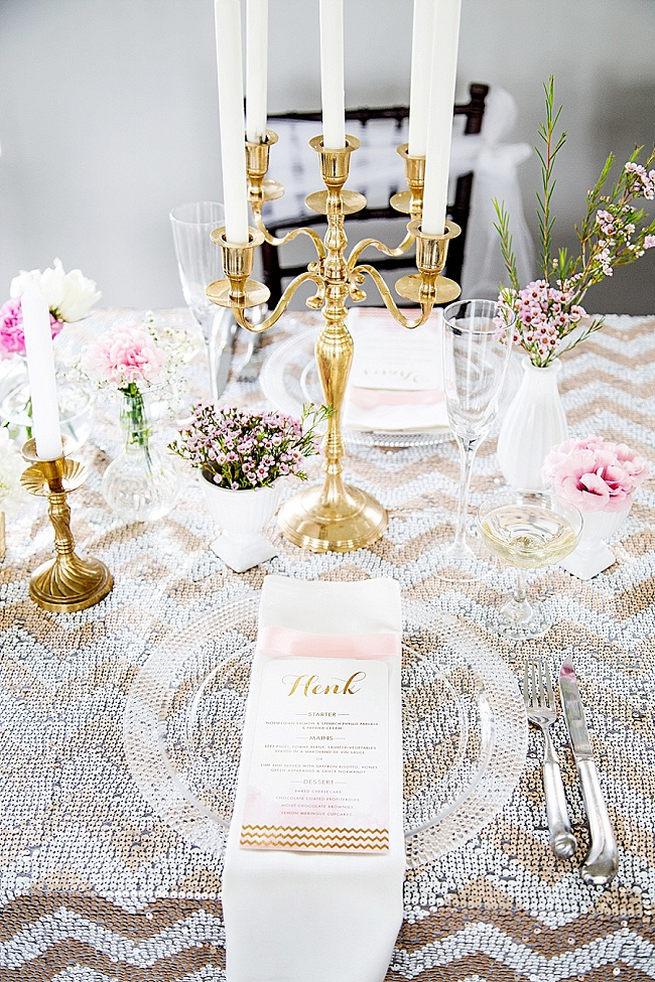 Soft Pink Gold Wedding 22
