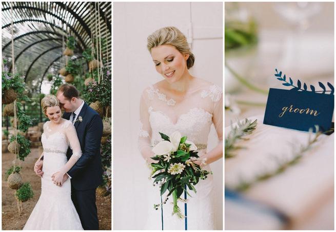Elegantly Relaxed Navy & Gold Wedding at Babylonstoren {Charlene Schreuder Photography}