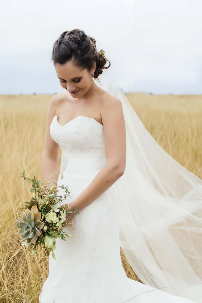 Succulent bridal bouquet // Succulent Garden Wedding // Claire Thomson Photography