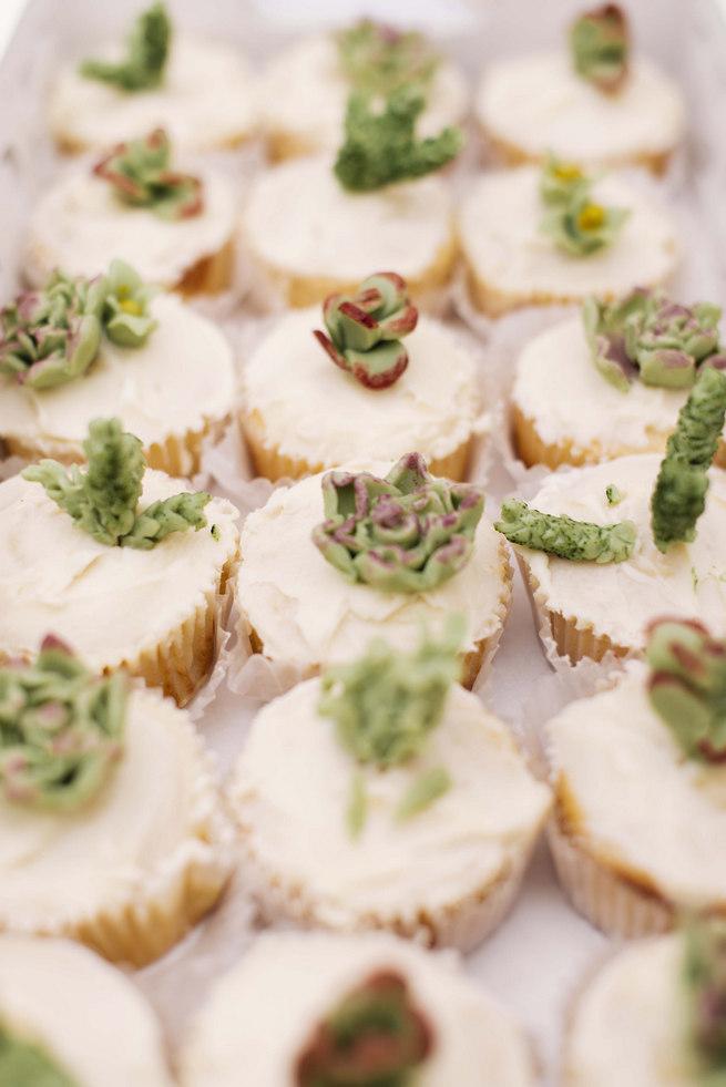 Succulent cupcakes // Succulent Garden Wedding // Claire Thomson Photography