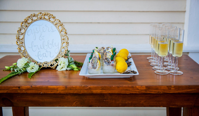 Aperitifs. Bayside Wedding Ceremony. Elegant Gray Blue Nautical Wedding by Rachel Capil Photography and Lindsay Lauren Events