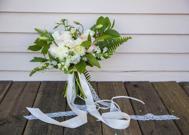 Fresh green and white bouquet by Angels Petals. Elegant Gray Navy Nautical Wedding by Rachel Capil Photography and Lindsay Lauren Events