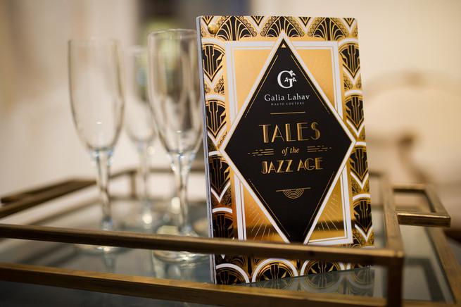 Gold and black art deco invitations // Galia Lahav Bridal Gowns at Kinsley James Bridal Boutique // Brian Macstay