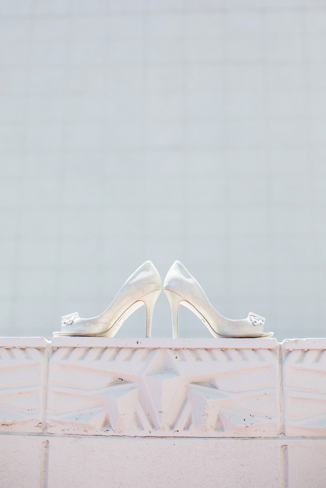 Champagne wedding heels.