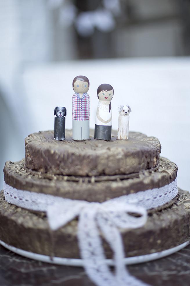 Custom wood figurine cake toppers  // // Organic Farm Style Karoo Wedding // christine Le Roux Photography
