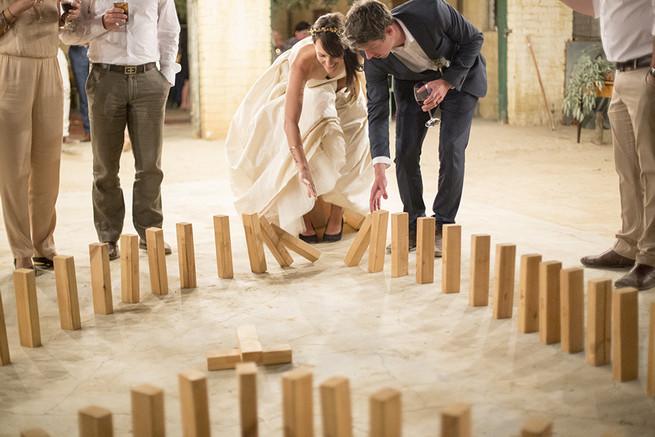 Wedding dominoes // Organic Farm Style Karoo Wedding // christine Le Roux Photography