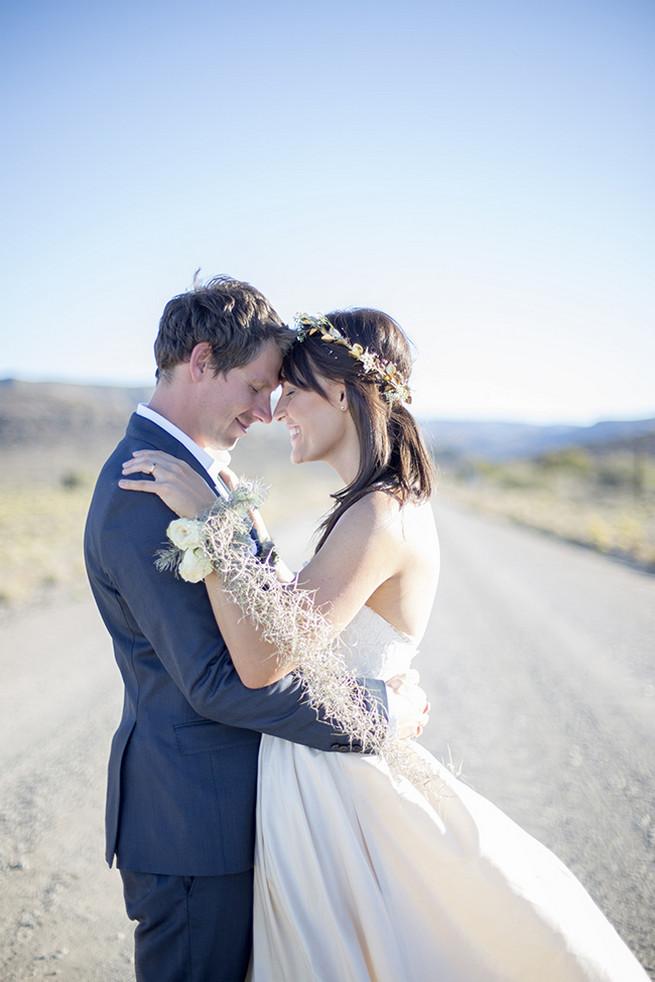 Stunning bride corsage // Organic Farm Style Karoo Wedding // christine Le Roux Photography