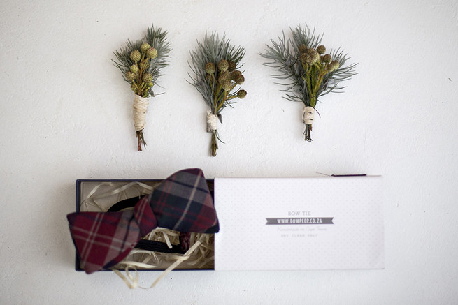 Fynbos boutonniere // Organic Farm Style Karoo Wedding // christine Le Roux Photography