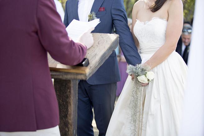 Brides flower corsage // Organic Farm Style Karoo Wedding // christine Le Roux Photography
