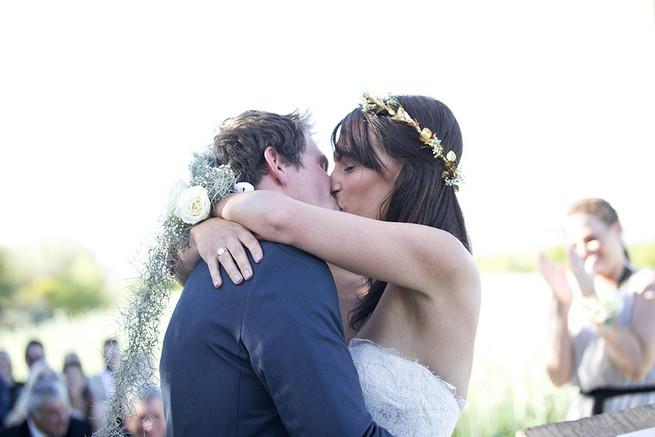 Brides fynbos flower corsage // Organic Farm Style Karoo Wedding // christine Le Roux Photography