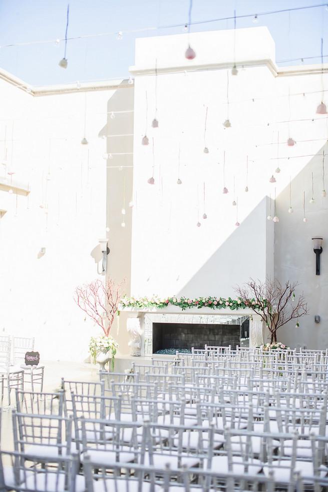 Wedding ceremony decor // Modern Romance: Pink and Silver Wedding // Jessica Q Photography