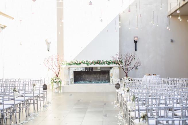 Urban wedding ceremony set up // Modern Romance: Pink and Silver Wedding // Jessica Q Photography
