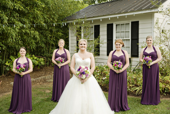 Purple and Gray Georgia Garden Wedding // Andie Freeman Photography
