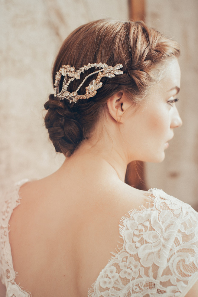 Luxurious vintage wedding hair accessories by Jannie Baltzer // Sandra Åberg Photography // Hair Mia Jeppson // Dresses by Vintage Bride and BHDLN // Model Faye of Le Management
