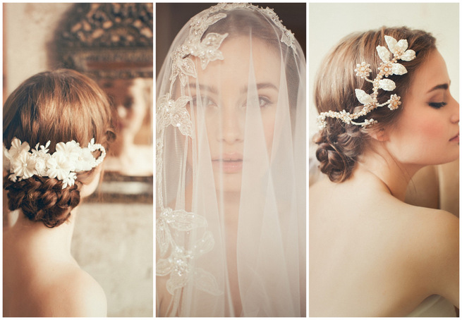 2015 Vintage Wedding Hair Accessories by Jannie Baltzer {Sandra Åberg Photography}