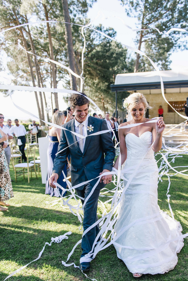 YAY! White and Gold DIY Chevron Wedding, South Africa, by Claire Thomson Photography