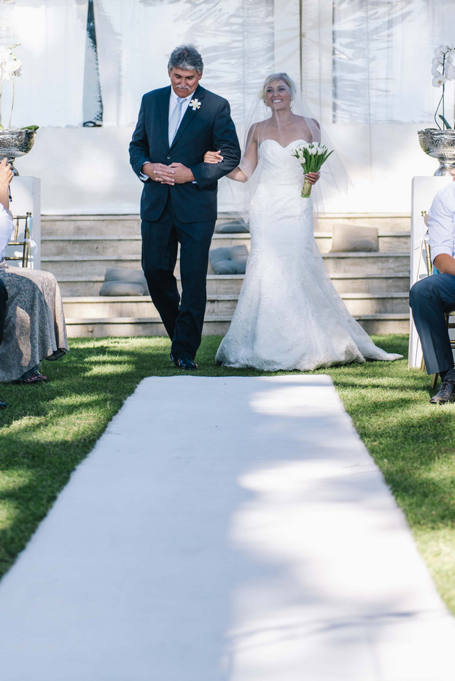 White and Gold DIY Chevron Wedding, South Africa, by Claire Thomson Photography