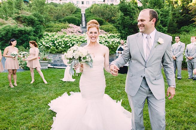 Outdoor garden wedding ceremony at Villa Terrace. / Elegant Milwaukee Wedding Valo Photography