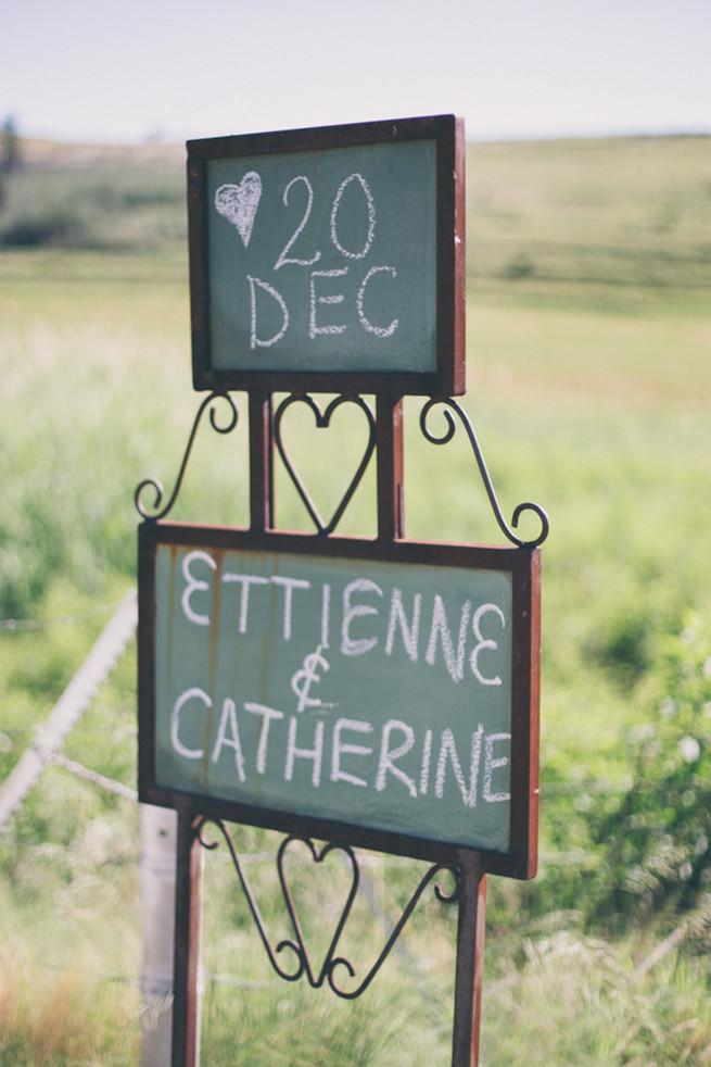 Wedding Signage. Grey White Farm Wedding, South Africa // Maryke Albertyn