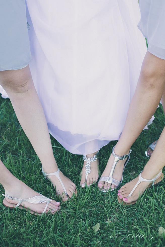 Bridesmaids shoes. Grey White Farm Wedding, South Africa // Maryke Albertyn