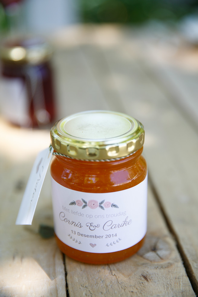 Homemade Jam and marmalade favors. Pink, purple and green Natte Valleij Stellenbosch Wedding by Adene Photography