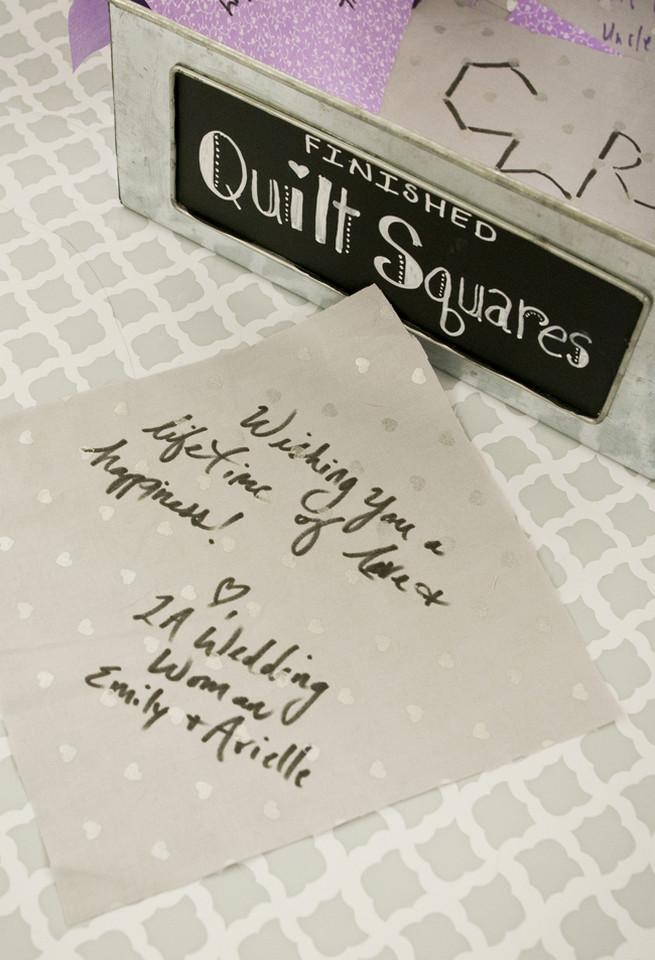 Wedding guest book quilt