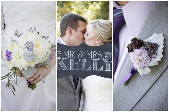 Purple and Gray DIY Wedding {Peterson Design & Photography}
