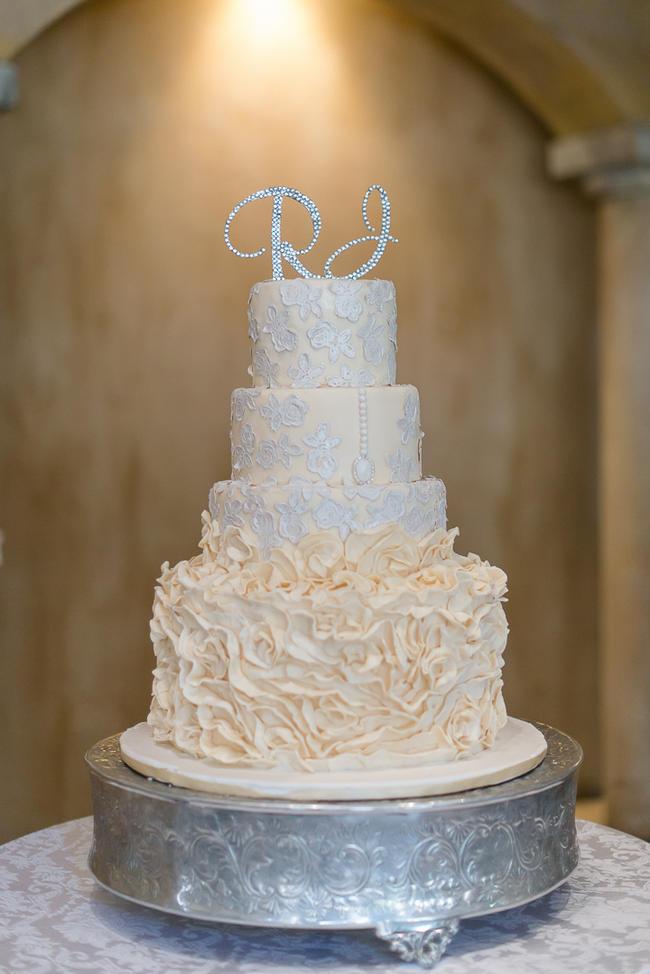 All White Wedding Cakes (30)