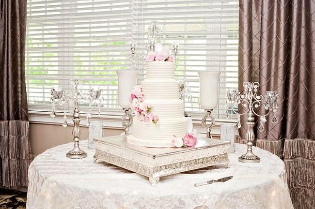 All White Wedding Cakes