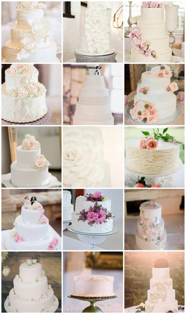 25 Absolutely Amazing All White Wedding Cakes
