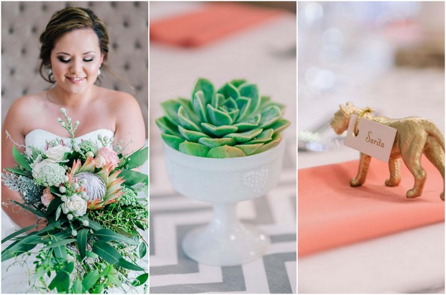 Coral and Sage Wedding at Langkloof Roses {Claire Thomson Photography}