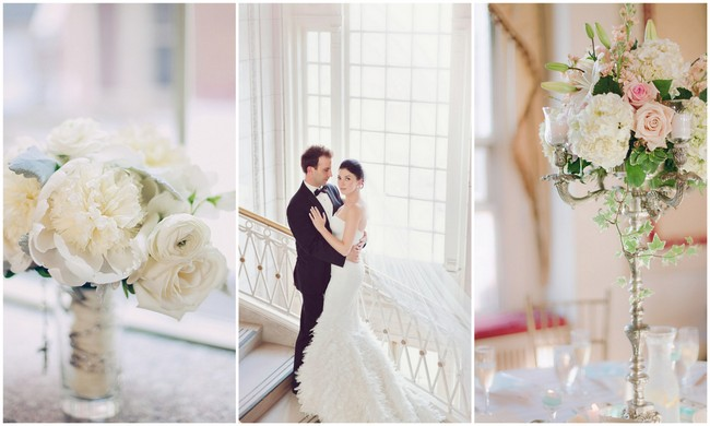 Chic White Ballroom Wedding {LindseyK Photography}