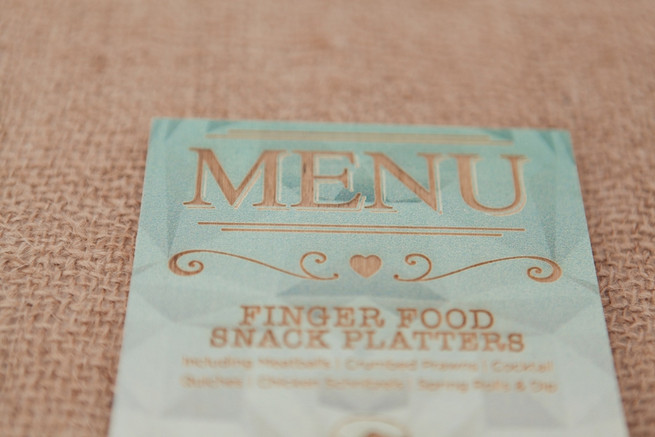 Lazer cut menu. Chic, Romantic Cape Town City Wedding (Coba Engelbrecht Photography)
