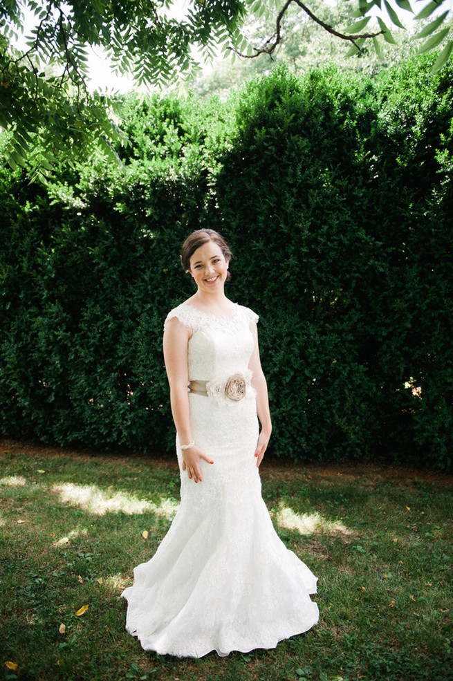 Allure bridal wedding dress  / Meredith McKee Photography