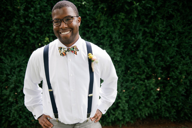 Quirky groom bowtie  / Meredith McKee Photography