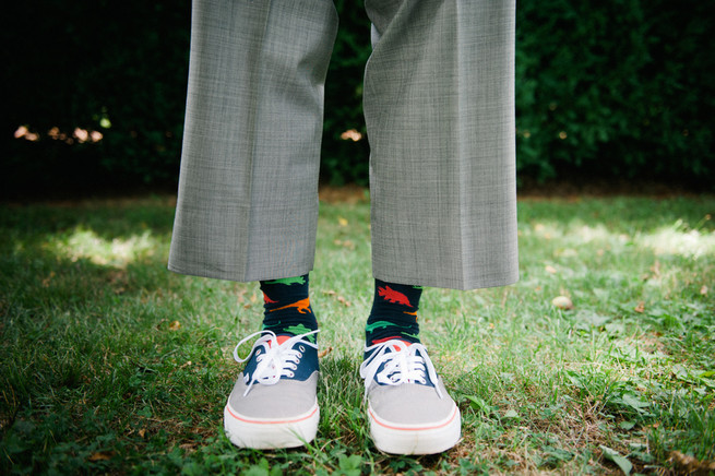Fun groom socks  / Meredith McKee Photography