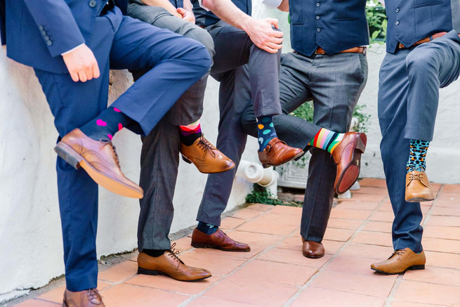 Groom socks / Langkloof Roses Wedding, Cape Town - Claire Thomson Photography
