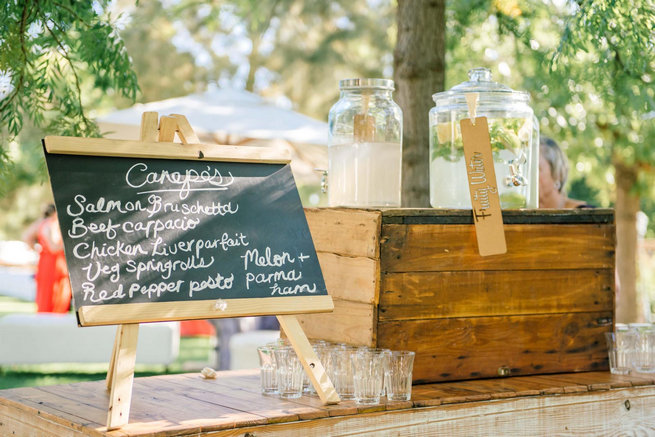 Wedding refreshment station // Langkloof Roses Wedding, Cape Town - Claire Thomson Photography