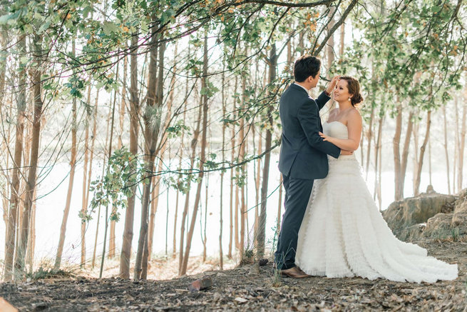 Bridal portraits in forest // Langkloof Roses Wedding, Cape Town - Claire Thomson Photography